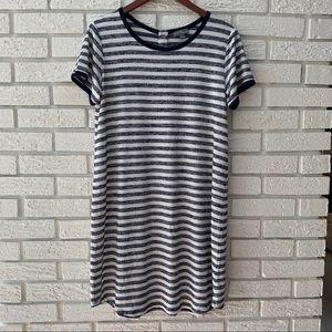 Market & Spruce Britta T-shirt Dress Blue Large